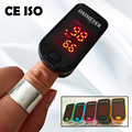 CE ISO NEW Design Fingertip Pulse Oximeter two directions display Blood Oxygen Monitor Black