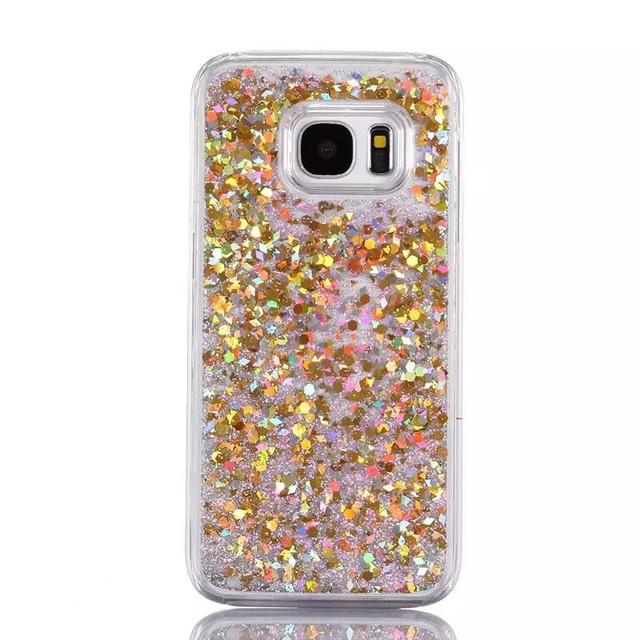 US $2 14 30% OFF|For Samsung Galaxy S7 edge case Liquid Bling Quicksand  Crystal Hard PC back cover for Galaxy S5 S6 edge plus Stars Glitter  Coque-in