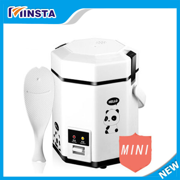 Portable travel electric mini rice cooker Non stick, Automatic multipurpose for cooking rice,making bread, soup,congee, household mini electric induction cooker portable hot pot plate stove dorm noodle water congee porridge heater office eu us plug
