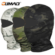 Multicam CP Camouflage Balaclava Full Face Mask Bicycle Hunting Cycling Army Bike Military Helmet Liner Tactical Paintball Hat(China)