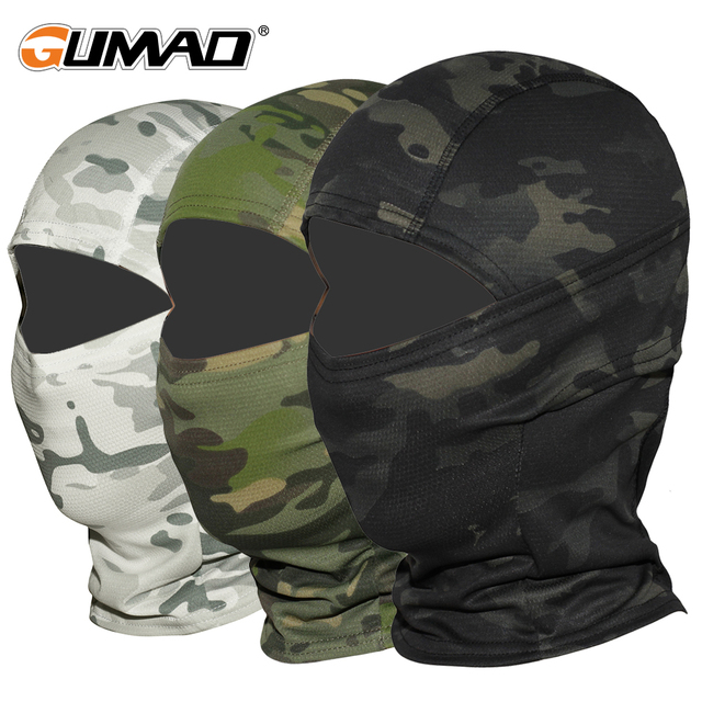 Multicam CP Camouflage Balaclava Full Face Mask Bicycle Hunting Cycling Army Bike Military Helmet Liner Tactical Paintball Hat