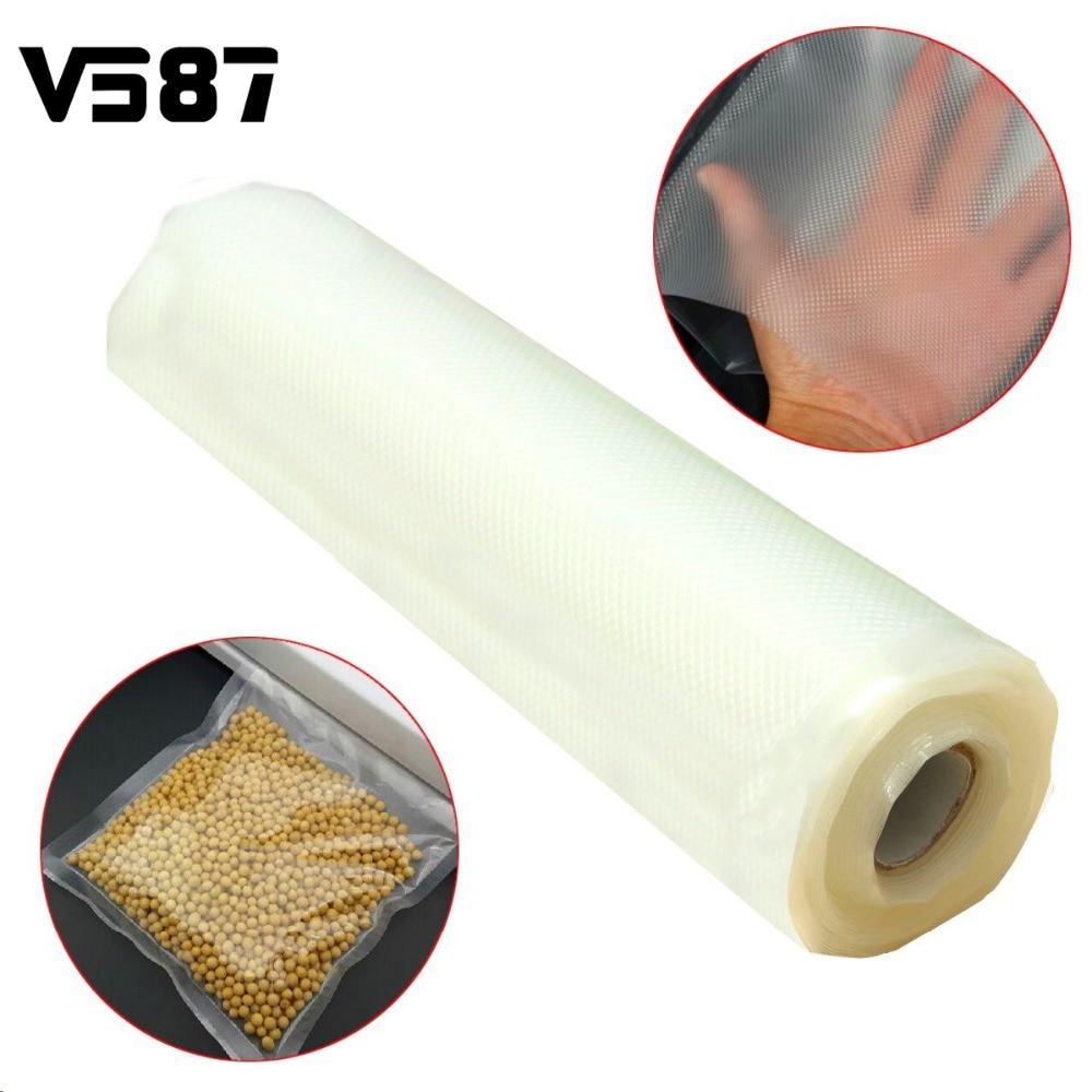 20CMx500CM Vacuum Heat Sealer Food Fresh Saver Bag Rolls Food Storage Bags Saran Wrapper Flim Kitchen Packaging Tool