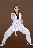 ZOOBOO Child Adult Taekwondo Uniform Cotton Fabric Karate Judo Taekwondo Dobok Mooto With White Belt Men