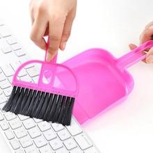 Mini desktop cleaning brush computer brush keyboard brush small broom dustpan set 5 pcs