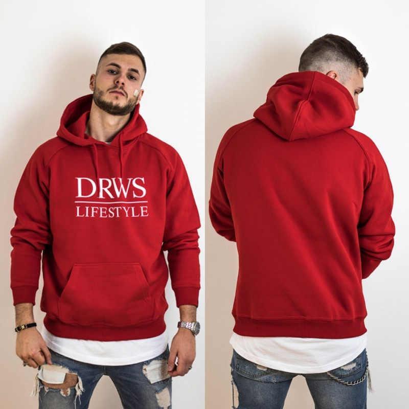 HETUAF 2018 Nieuw merk Hoodie Streetwear Hip Hop Zwart grijs Hooded Jersey Hoody mannen Truien en Sweatshirts Plus Size m-XXL