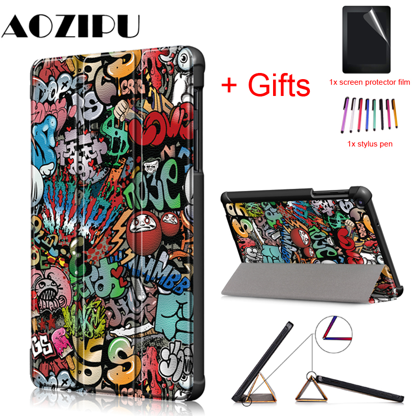 Case for <font><b>Samsung</b></font> Galaxy Tab A 8.0 P200 <font><b>P205</b></font> With S Pen Flip Magnet Stand Funda Cover for <font><b>Samsung</b></font> Galaxy TAB A 8.0 2019 Case image