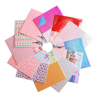 HOT 12sets 182pcs 150mm*150mm Origami Handmade paper Pearl Laser Color pattern shining Mix romantic for lovers gift scrapbook
