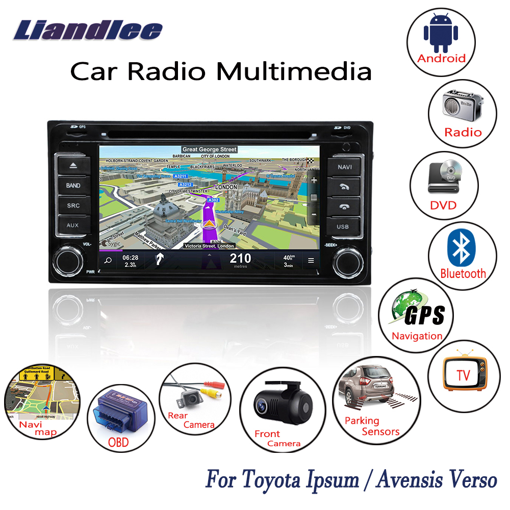 Liandlee Android For Toyota Ipsum Avensis Verso 2001~2009 Car Radio CD DVD Player GPS Navi Navigation Maps Camera OBD TV Media