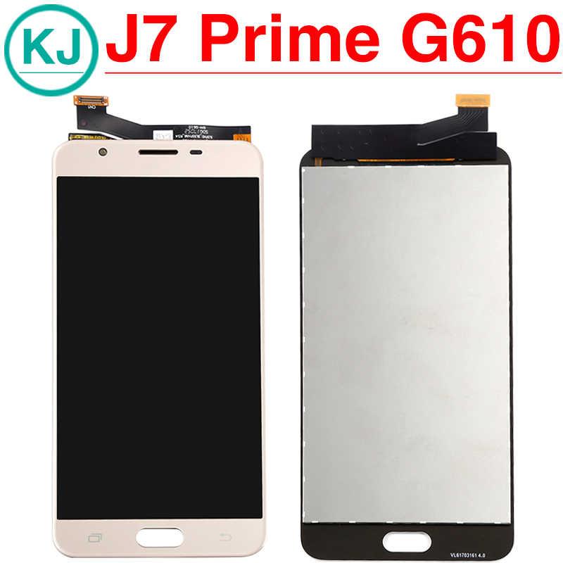 جديد J7 رئيس شاشة الكريستال السائل لسامسونج غالاكسي J7 رئيس G610F G6100 G610M جديد شاشة الكريستال السائل مجموعة المحولات الرقمية لشاشة تعمل بلمس