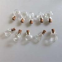 Glass Mini Bottles Pendants Small Diy Bottles With Cork Diy Cute Jars Christmas Wedding Gifts Vials Bottles 100pcs Free Shipping