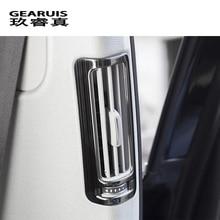 Стайлинга автомобилей B столб кондиционер розетки пайетки рамка наклейку Накладка для Audi A6 C6 C7 2009-2018 авто аксессуары