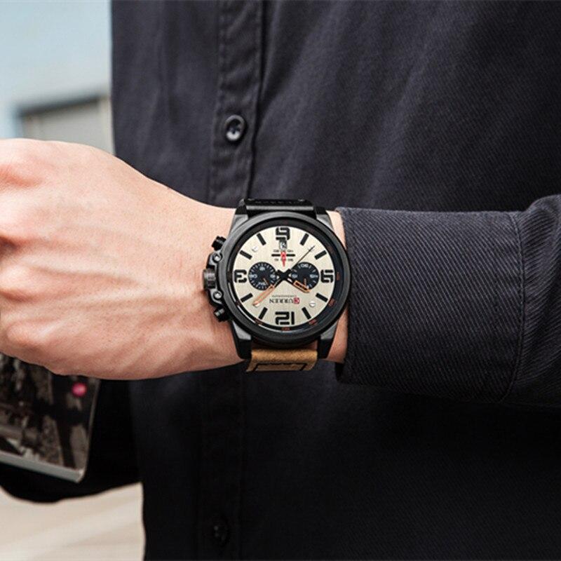 Image 3 - Top Brand Luxury CURREN 8314 Fashion Leather Strap Quartz Men Watches Casual Date Business Male Wristwatches Clock Montre HommeQuartz Watches   -