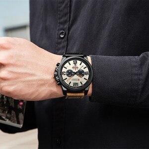 Image 3 - Top Merk Luxe Curren 8314 Fashion Lederen Band Quartz Mannen Horloges Casual Datum Bedrijf Mannelijke Horloges Klok Montre Homme