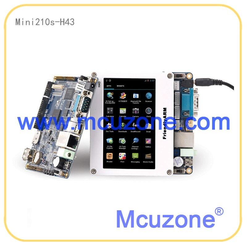 """FriendlyELEC Mini210S S5PV210 Cortex-A8 плата с 4,"""" 480 272TFT lcd резистивный сенсорный экран 512M DDR 1GB NAND"""