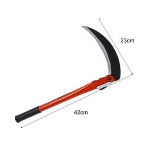 Image 5 - ACCHAMP Lightweight Gardening Grass Sickle Manganese Steel Sharp Long Handle Hand Sickle Hand Scythe for Weeding Garden Tool AA