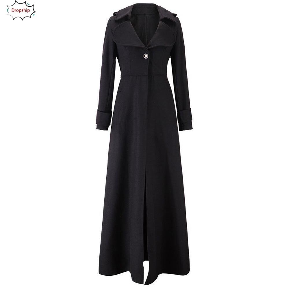 2019 Hot Womens Winter Lapel Slim Coat Trench Jacket Long   Parka   Overcoat Outwear Autumn Winner Women's clothing 18Oct22