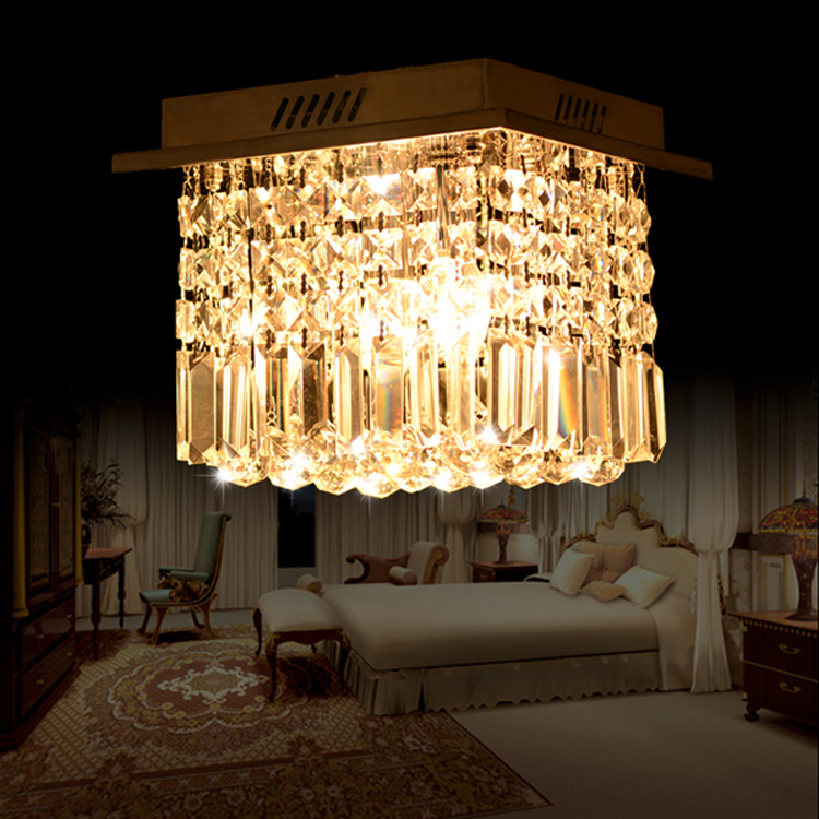 Fashion Design Modern Crystal Chandelier 25x 25MM Rain Drop Lamp Bedroom Living Room Dining Room Stainless Steel Indoor Lighting