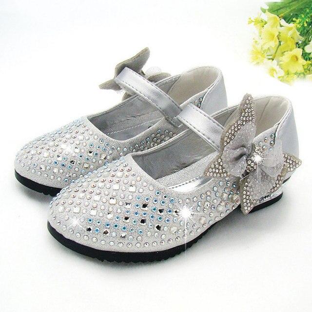 Nuevos 2016 Niños Zapatos de La Princesa Niñas Lentejuelas Muchachas ...