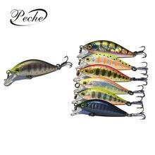 Купить с кэшбэком Peche Quick Sinking Minnow Fishing Lures Wobblers Laser Reflective Baits Hard Crankbait Pesca Isca Japan 4.5cm 3g