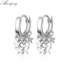 ANENJERY – boucles d'oreilles à pampilles en forme d'étoile, en argent Sterling 925, pour femmes