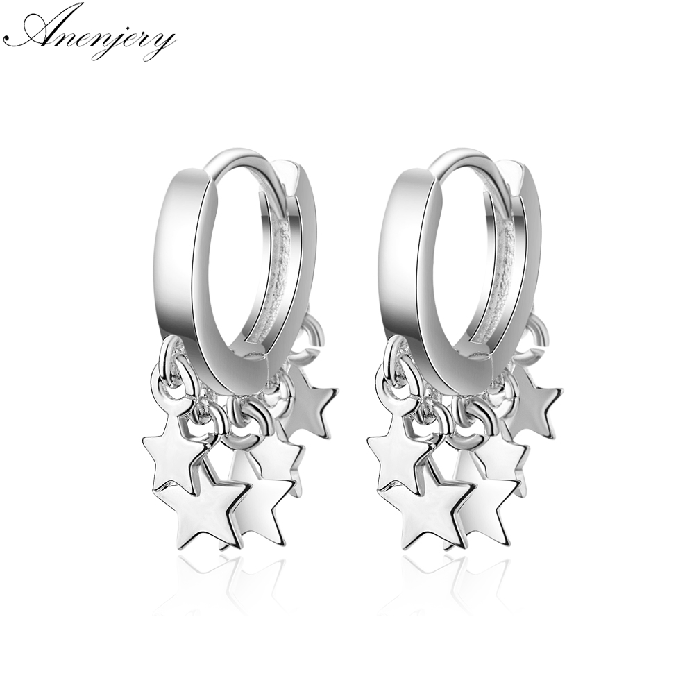04e3c50a5 Anenjery 2019 New Trendy Star Tassel Earrings For Women 925 Sterling Silver  Earrings oorbellen pendientes S-E752