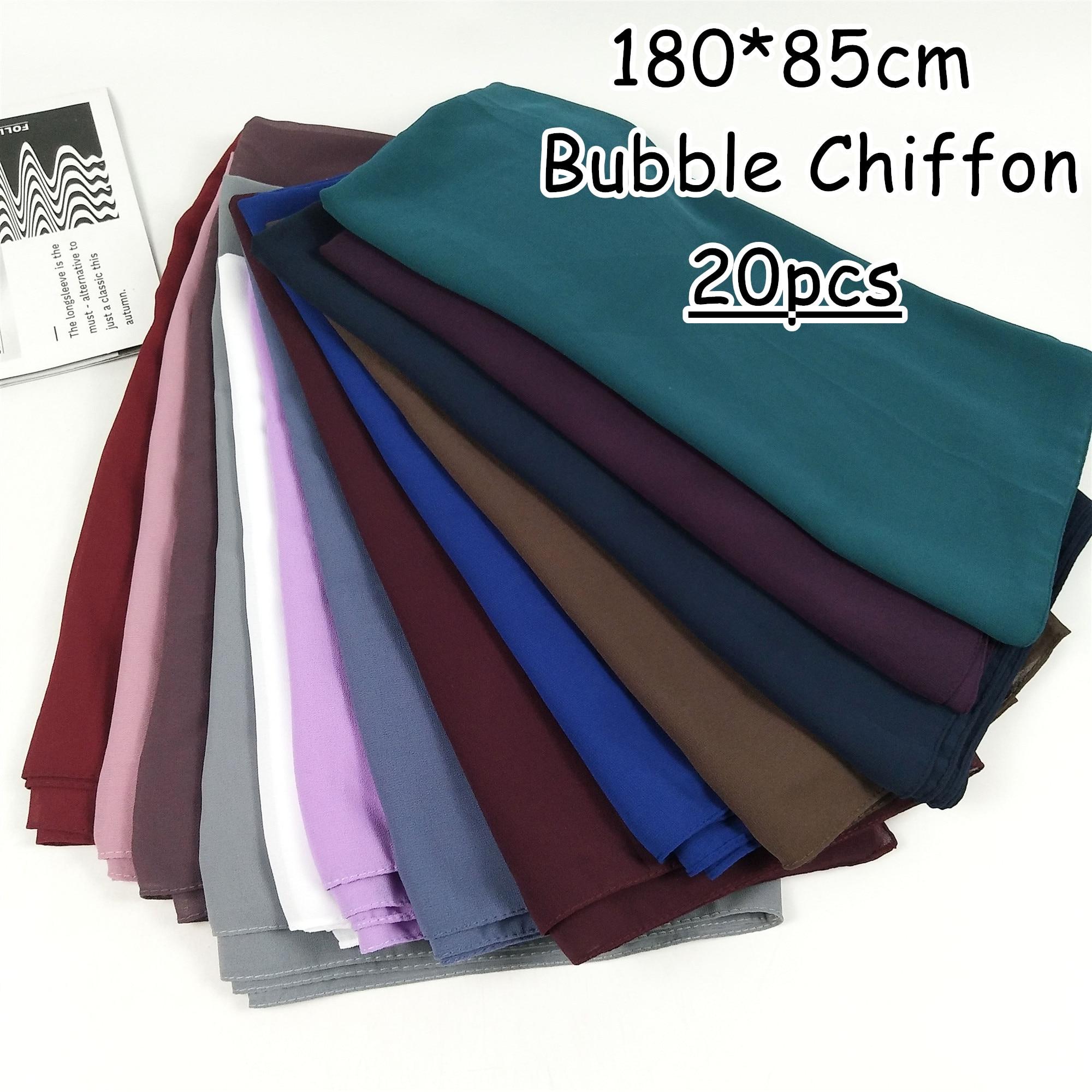 k9 Big size women High quality bubble chiffon printe solid color shawls hijab winter muslim scarves