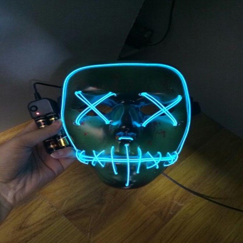 Halloween Maske Draht Leuchten Neon LED Light Lustige maske aus Das ...