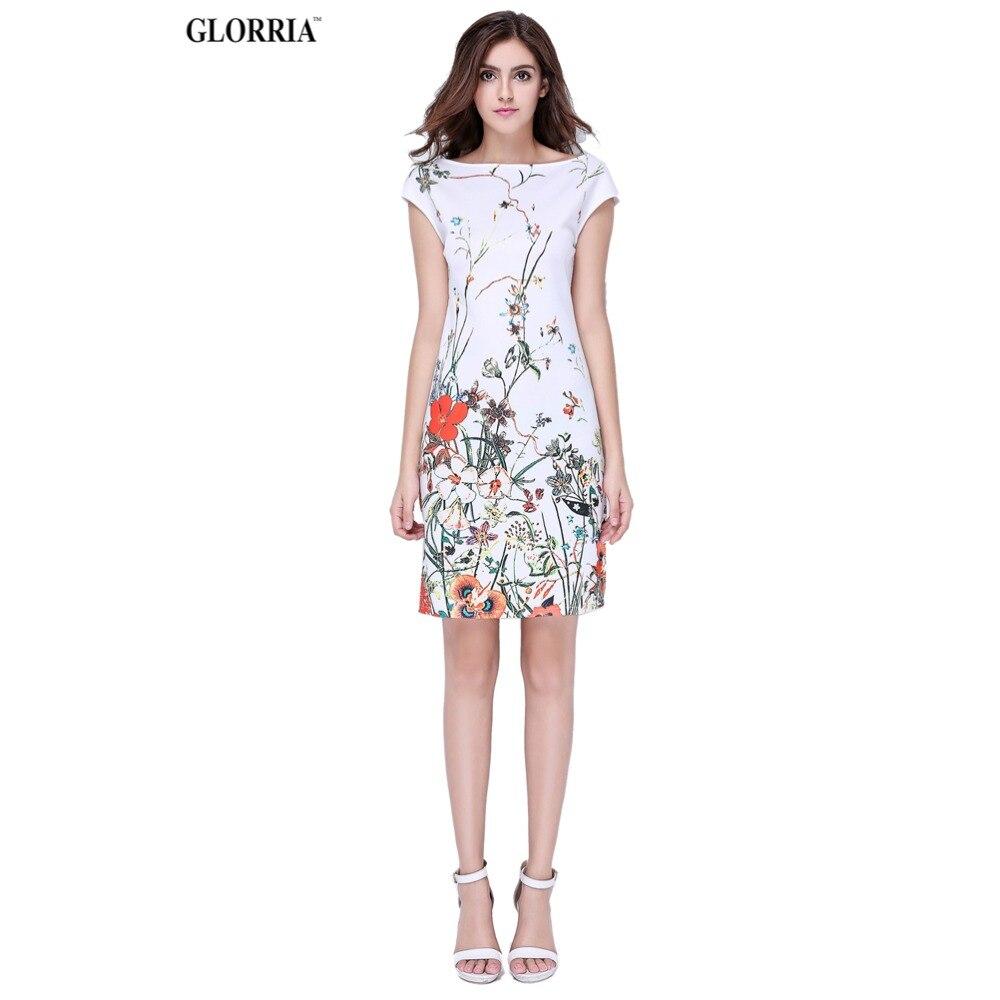 Glorria mujeres desgaste del verano para trabajar estampado floral vestidos de s