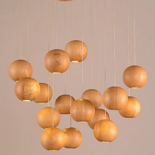 Nordic Wood Art Round Ball Droplight Modern LED Pendant Light Fixtures For Dining Room Bar Hanging Lamp Indoor Lighting nordic loft style wood art droplight modern led pendant light fixtures for living dining room bar hanging lamp indoor lighting