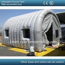 Надувной туннель палатка с окнами двери надувная Спортивная палатка надувная машина гараж палатка надувная палатка с комнатной крышей