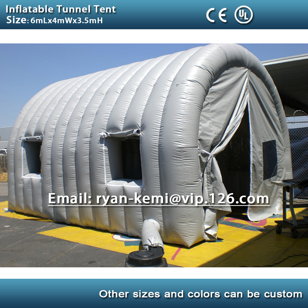 Inflatable Tunnel Tent With Windows Doors Inflatable