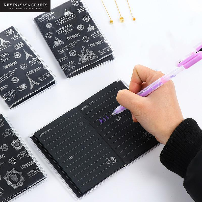 50 Sheets Notebook Diary Black Paper Book Sketch Notebook Drawing Painting Office Supplies School Stationery Gifts Planners