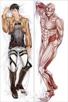 Japan Anime Hugging Body Pillow Case 150*50 Attack On Titan