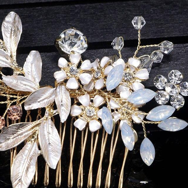 Floral Crystal Hair Pins 3