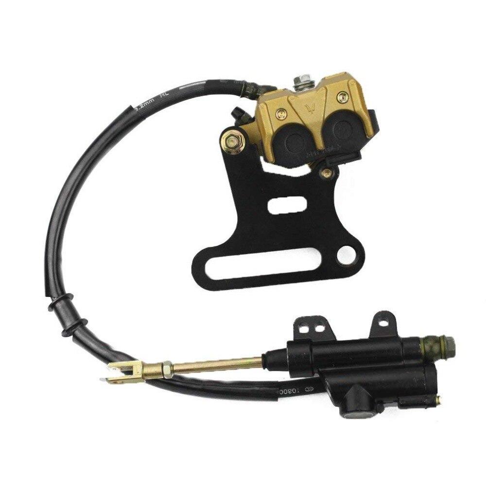 Rear Hydraulic Caliper Brake Master Cylinder Assembly for 70cc 110cc 125cc 150cc ATV Quad