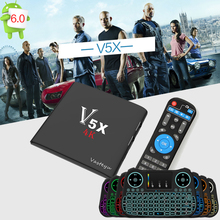 NEW V5X Smart Android TV Box Amlogic S905X Quad Core Android 6.0 kodi 17.3 1GB RAM 8GB ROM 2.4G WIFI 4K Set Top Box pk mxq pro