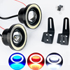 2Pcs Lot 12V 30W LED Car Fog Light With Lens Halo Angel Eyes Rings COB Xenon