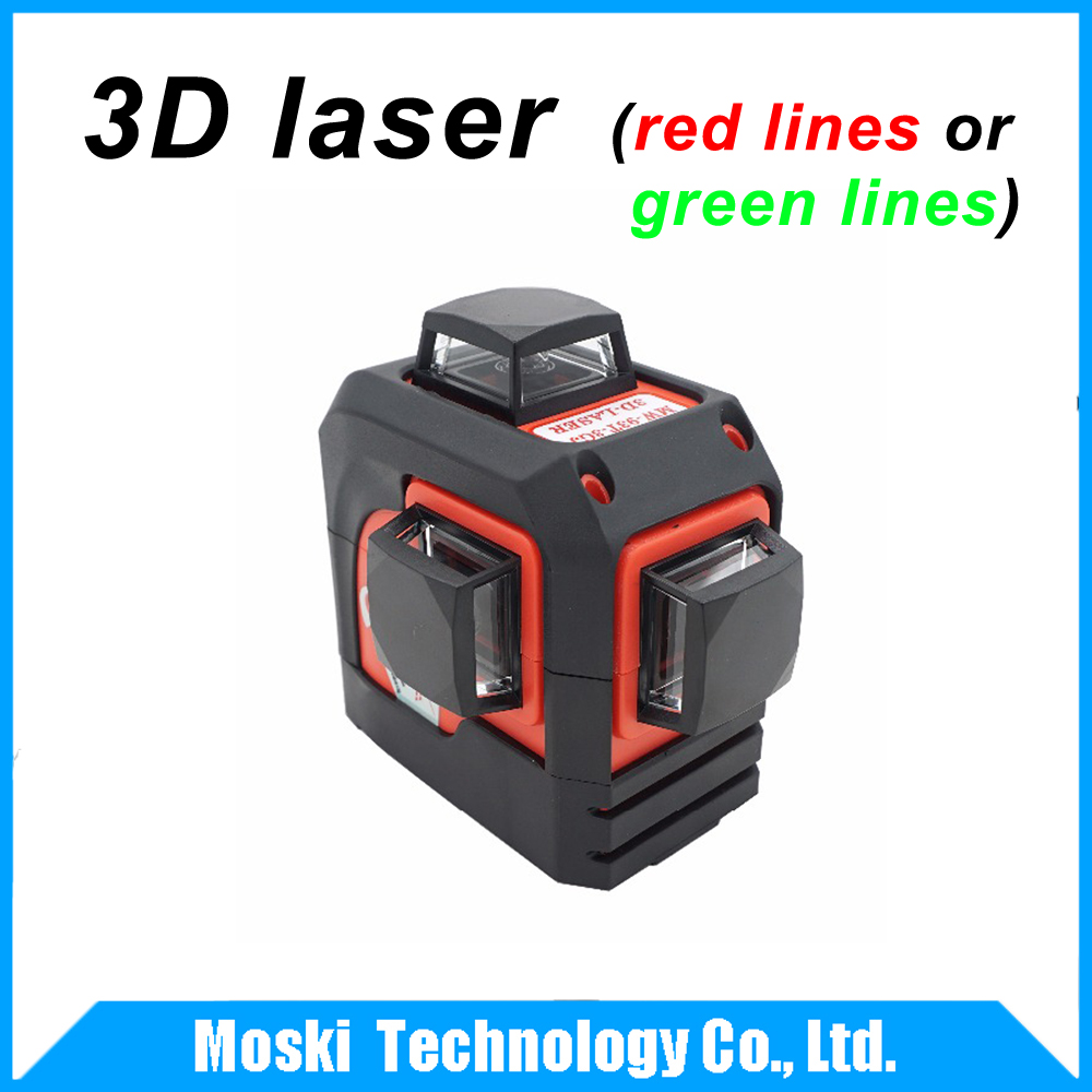(Red lines or Green lines) Fukuda,MW-93T 3D 12Lines laser level,Self-Leveling 360 Horizontal,Vertical Cross Super Powerful