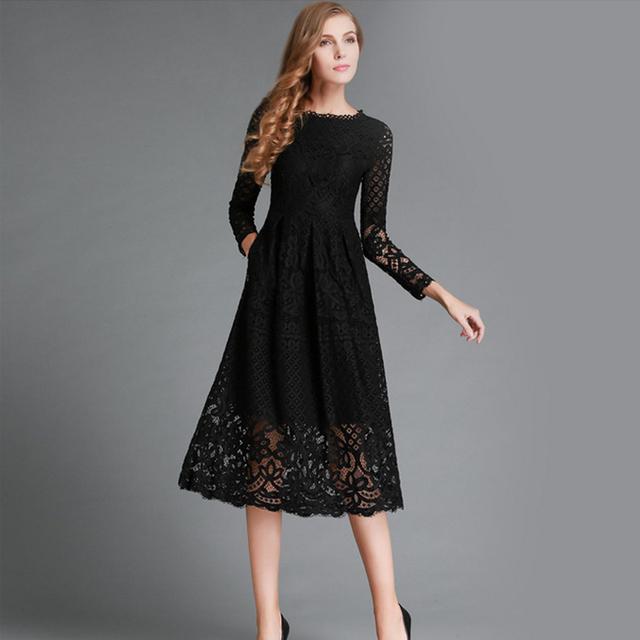 Long Autumn Winter Dress Women 2018
