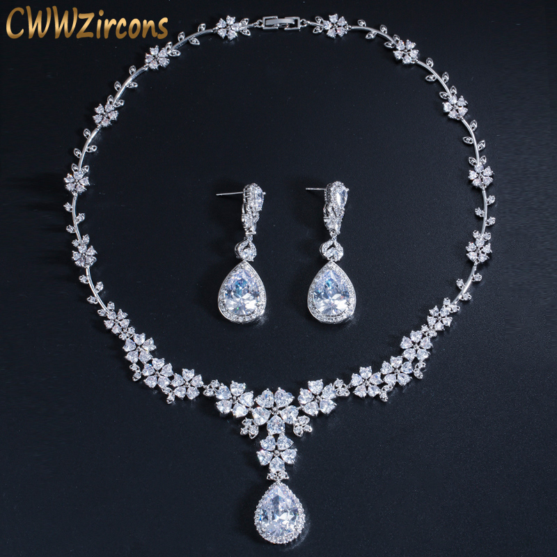 Cwwzircons Luxury African Women Wedding Party Costume Jewelry Long
