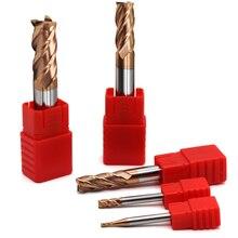 5 peças hrc60 4 flauta 1mm 1.5mm 2mm 2.5mm 3mm 4mm 5mm 6 ponta cortadora para moagem, fresa de liga de carboneto, tungstênio, aço, fresagem