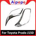Для Toyota Prado J150 2010 2011 2012 2013 ABS хромированный головной свет накладка передние фары планки автомобильные аксессуары 2 шт