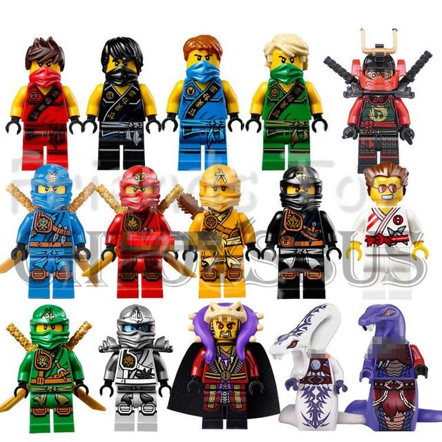Ninjago 15 pcs cole kai jay lloyd nya skylor zane pythor - Lego ninjago nouvelle saison ...