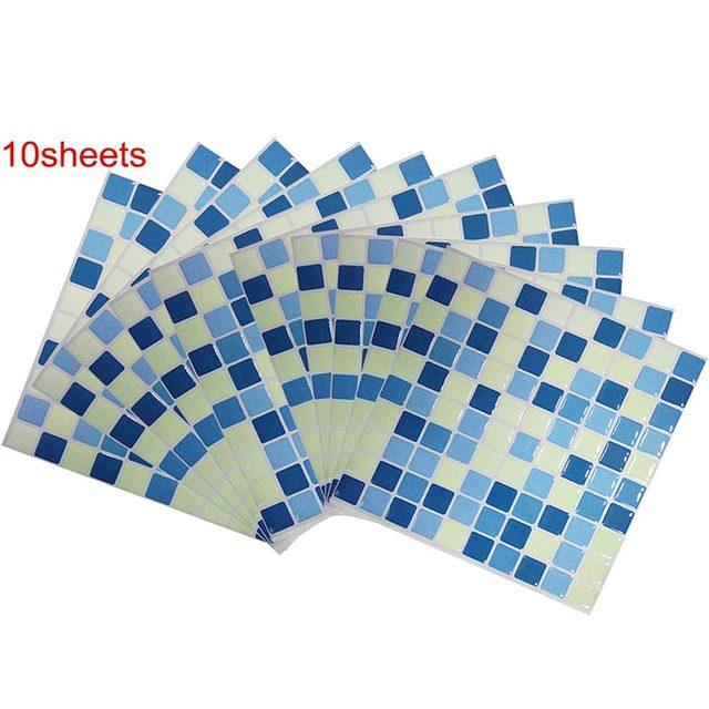 Wallpaper In Rolls 23x23cm Vinyl Mosaic Bathroom Tile Peel And Stick Interior Home decoration
