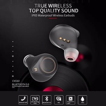 HD Stereo Wireless Headphones T1-APTX TWS True AptX Bluetooth 5.0 Wireless HD Earphone Headphones Earphones 706# wavefun xpods 3
