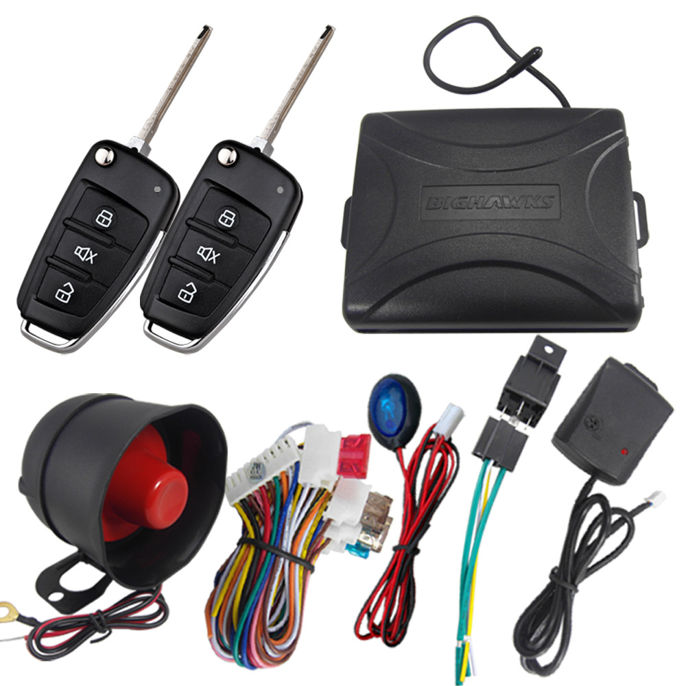 BIUYEE M802 8118 for Japanese cars 2 flip key Car Alarm System Universal Siren one Way