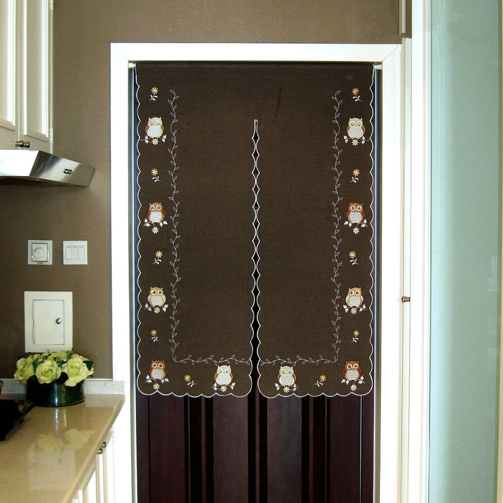 Aliexpress.com : Buy Finished Embroidered Owl Half Curtain Window Light  Shading Curtain For Kitchen Cabinet Door Cloth Curtain Partition Garden  From ...