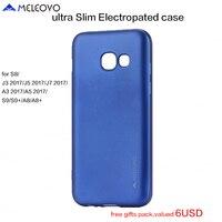 SFor Samsung A8 Plus 2018 5 6 6 0 Case MELEOVO Ultra Slim Electroplated Shield Cover