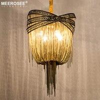 Итальянский Алюминий люстра светильник бронза Чиан висит Блеск подвеска кисточкой лампа для украшения дома отель проекта
