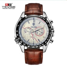 2016 Marca Hombres Reloj Original TEVISE Lujo Mecánico Automático Relojes Calendario Masculino Impermeable Reloj Reloj relogio masculino